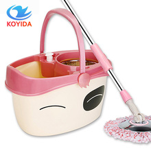 KOYIDA Dual-drive 360 rotating spin Mop bucket hand pressure drying Easy Magic Floor car cleaning mop with one mop head