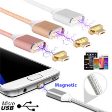 2.4 Magnetic Micro Usb Data Cable for Apple iPhone 7 6 5 5s 6s Plus Charging Cable Android for Samsung Mobile Phone Charger Cord