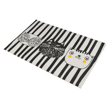 Fashion Design Home Bedroom Bathroom Flannel Floor Carpets Funny Cat Pattern Anti-Slip Floor Mat Carpet 5 Sizes Optional(China)