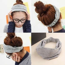 korean cotton elastic head bands wrap turban hair accessories for women girls,port hair ties headdress headbands bandana