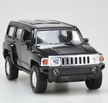1:36 scale alloy pull back model toys, high simulation H3 SUV model, metal castings 2 open the door, toy vehicle, free shipping