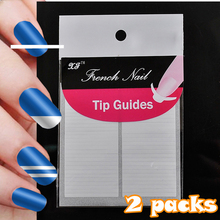 2 Sheets Manicure Products Nail Art Tips French Sticker DIY Nails Straight Line Parallel Shape N18