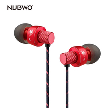 Buy NUBWO In-ear Headphones Sport Earbuds Earphones Stereo Universal Wired Earphone Mic iPhone/iPo/iPad/Samsung for $8.39 in AliExpress store