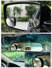 2Pcs Car Blind Spot Mirror Rear View Mirror 360 degree Rotatable Convex Quality