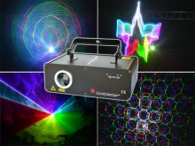 3D spot laser light dmx RGB laser 3D gobo projector DJ beam lighting night club disco bar beam decor KTV home party laser light(China)