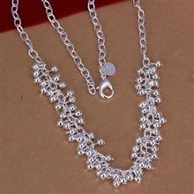 N058 Silver plated Necklaces silver 925 jewelry Pendant fashion jewelry  Light Purple Necklace /bvyaknfa chqakyxa