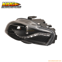 For 2006-2008 Audi A4 Projector Headlights Black Clear & R8 Led USA Domestic Free Shipping