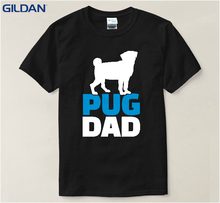 Dog The Pug White &Amp; Tshirts Men's T Shirt Black Round Neck Tshirt Big Size For Men Euro Size Top Tees Funny T-Shirt(China)