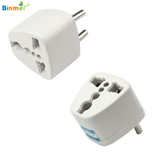 Binmer Superior Quality Universal AU US UK to EU AC Power Plug Travel Adapter Outlet Converter Socket OCT7