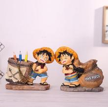 One Piece Luffy 12*13cm Pen Container Toys Home Decoration #2873 Action Figure Brinquedo Toy Kids Christmas Gift