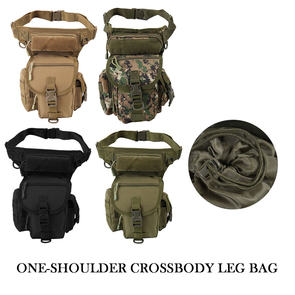 Tactical Backpack Bag Outdoor Sport Camping Hiking Trekking Waist Leg Bag Military Shoulder Bag Multi-function Saddle Bag(China)
