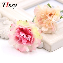 30PCS Artificial Flowers Carnation Silk Flower Heads Home Garden/Wedding Party Decoration DIY Wreath Scrapbooking Fake Flowers(China)