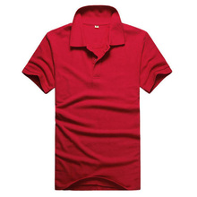 Mannen slim fit korte effen blouse mouw blouses tops casual revers top polo shirts tops pure kleur mannen trainingspak nieuwe(China)