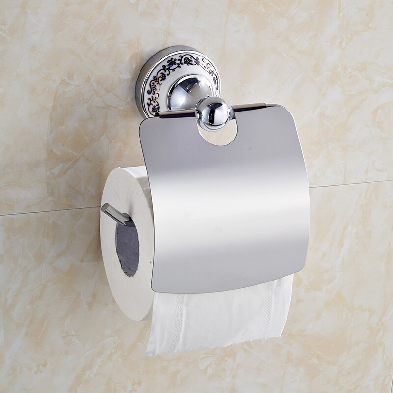 Hot Sale Wholesale And Retail Promotion NEW Ceramic Chrome Brass Wall Mounted Toilet Paper Holder Waterproof Tissue Bar<br><br>Aliexpress