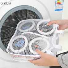 XZJJA New Arrival fashion Shoe Storage Bags Mesh Laundry Shoes Bags Dry Shoe Organizer Portable Washing Bags Organizer Container(China)