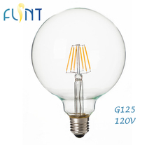 Dimmable E27 led bulb edison bulb 4w 7w 120V Retro 360 degree glass big led Filament G125/G40 Light bulb free shipping