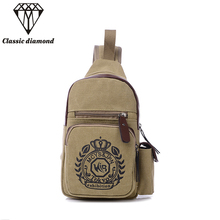 2017 Men Canvas Chest Bag Casual Crossbody messenger Bag Men's Clutch Bags High Quality Waist Pack Shoulder Mini Bags 2017 women(China)