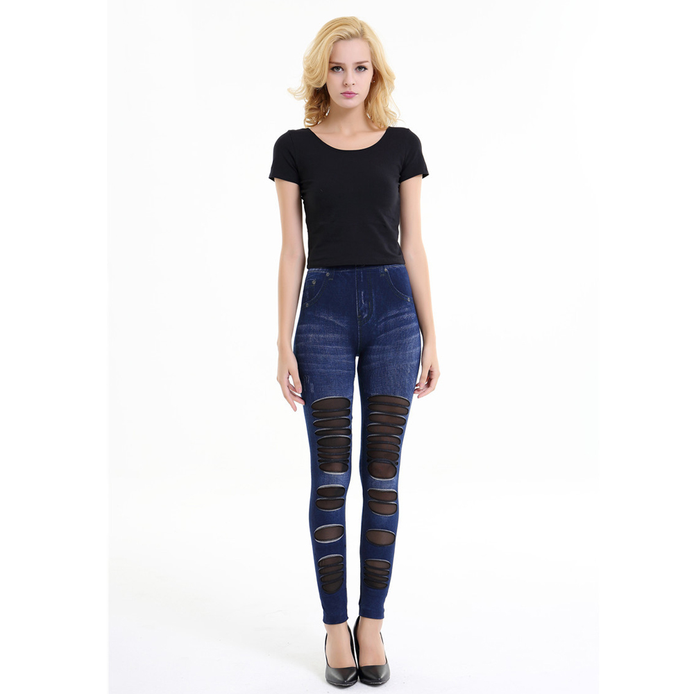 High waist trousers and tight pants female spring summer 2017 new sexy jeans knee hollow gauzeОдежда и ак�е��уары<br><br><br>Aliexpress