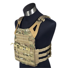 1000D JPC Tactical Vest Simplified Version Lightweight Military Airsoft Paintball Adjustable Molle Jumpable Plate Carrier Vest(China)