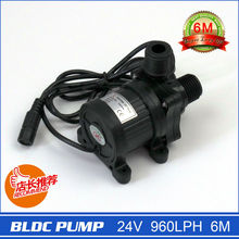 New Electric Centrifugal Water Pump, 24V 960LPH 6M, 230g, Miniature size, with DC plug, Silicone damping, low noise! 40F-2460(China)