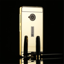 New High quality Removable cover for Nokia Lumia 640 535 550 830 Case Mirror case Aluminum Mirror Back Phone cover p10