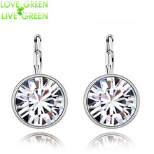 promotion wedding brand Factory Wholesale  GP Austrian Crystal round Pendant sugar drop Earrings Fashion Jewelry 90089