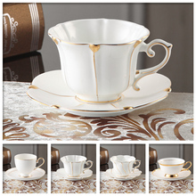 Royal Luxury Bone China Coffee mug Advanced Porcelain And Saucer Spoon Set Mug Tray Tumbler For Gift Cafe Party 200ml