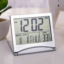 Home Digital LCD Screen Travel Alarm Clocks Desk Thermometer Timer Calendar New