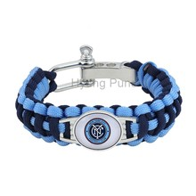 MLS New York City FC Paracord Bracelet Adjustable Survival Bracelet Soccer Teams Bracelet Drop Shipping!