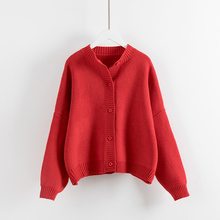 Loose sweater cardigan female The new han edition 2017 pure color restoring ancient ways ladies sweaters knitted cardigan coat