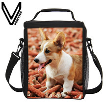 VEEVANV Brand 2017 Welsh Corgi Pembroke Cooler Box 3D Thermal Insulated Lunch Bags for Women Picnic Food Bags Storage Lunch Bags