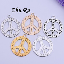 5pcs zhu ru 1.7*41*45.5MM peace Mark Sweater chain Accessories necklace Making Diy jewelry materials Accessory decorations(China)