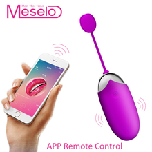 Buy Meselo 12 Modes Vibrator App Wireless Remote Control Sex Toys Woman USB Charge Vibrating Eggs Adult Game Toy G-spot Vibrator