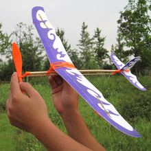 Rubber Band Airplane Novel Jet Glider model airplane Boys' toys learning machine Science Toys Assembly plane Educational toys
