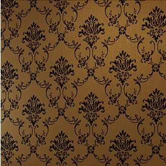 Classic  Black Brown Damask Wallpaper for Walls Home Decor Room Sofa Background DZK129 papel de parede vintage  roll  para sala<br><br>Aliexpress