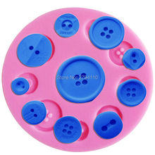 F1092 Buttons Silicone Mold  Fondant Cake Decoration Sugar Craft Tools Baking Tools Cake Tools11*0.8CM