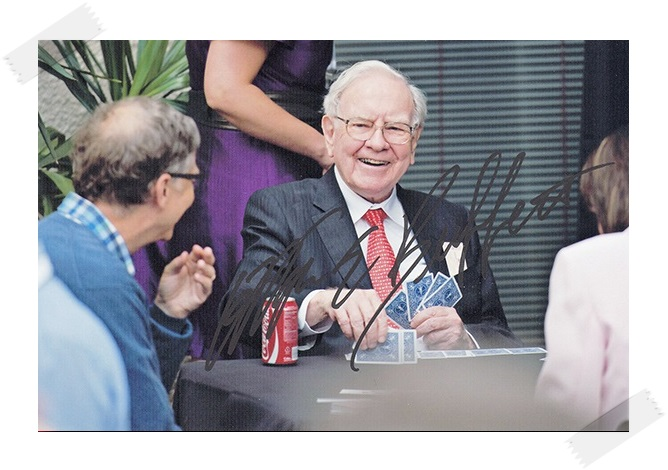 Warren Buffett autographed signed photo 4*6 inches authentic freeshipping  01.2017  <br>