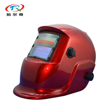 Fast Shipping Red Solar Lithium Cell Auto Darkening Welding Helmet German type custom welding Cap Mask Grinding TRQ-HS03(2233FF)