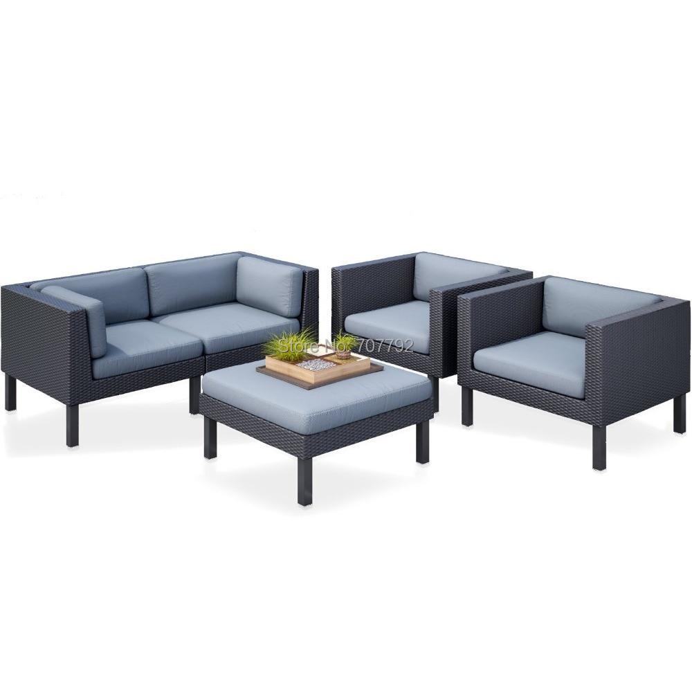 Exclusive Lounge Design Outdoor Cheap Rattan Garden Sofa