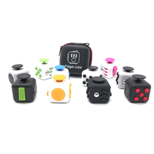 Fidget Cube Origina High Quality 1pcs Fidget Toys with Zipper Case for Birthday Christmas Gift with Clickable Ball