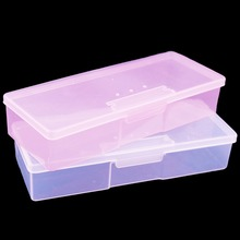 1PC Nail Polish Holder Plastic Nail Supplies Storage Box Rectangle Nail Art Studs Brushes Tools Holder Case Manicure Tools