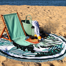 Summer  Floral Printed Tassels Beach Towels Round Blanket Yoga Mat Tippet Shower Swimming Sunbath Camping Mat Home Textile