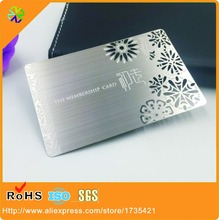 china wholesale custom cheap high quality engraved brushed metal business cards with wire drawing effect - Metal Business Cards Cheap