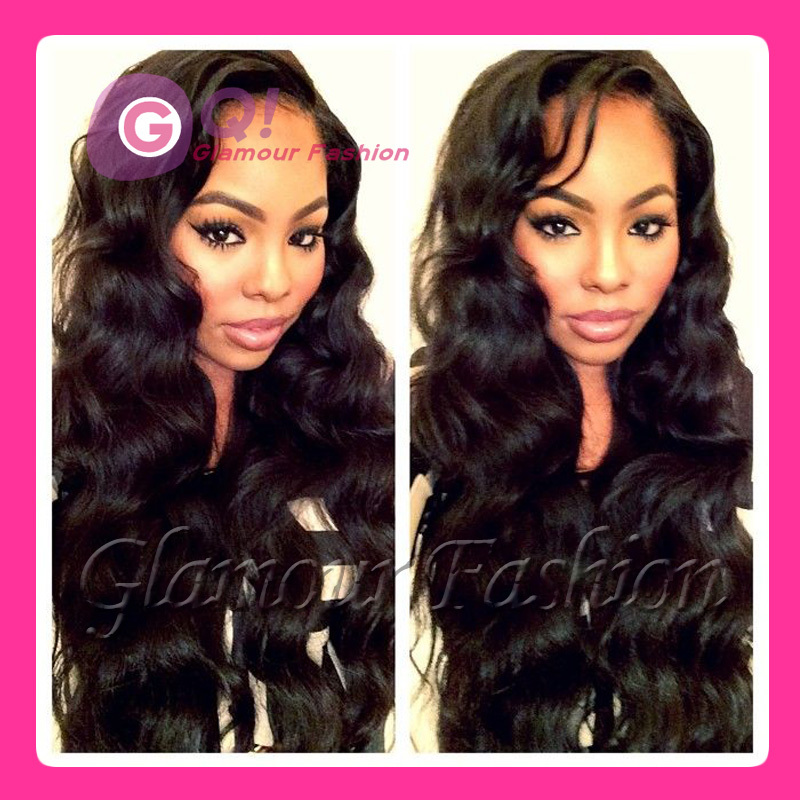 GQ Full lace human hair wigs for black women body wave human hair lace front wig glueless perruque human hair wigs &amp; u part wig<br><br>Aliexpress