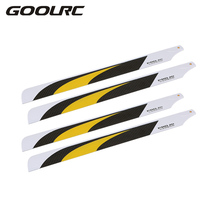 4 Pcs High Quality Lightweight Carbon Fiber 325mm Main Blades for Trex Electric 450 RC Helicopter and 325 Quadcopter