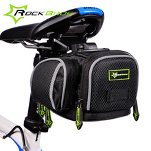 RockBros Waterproof Bicycle Bags Rear Seat Saddle Bag Mountain Road Bike Bycicle Accessories Cycling Pack Bicycle Bike Riding Pannier Black(China)