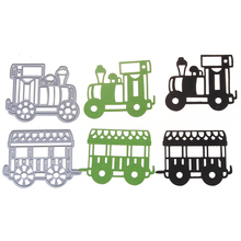 1 Set truck Pattern Metal Cutting Dies Stencil Scrapbook Card Album Paper DIY Craft(China)