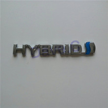 2 PCS Car HYBRID Trunk Emblem For Camry Crown Prius Sai Hybrid Series ABS Chrome Side Or Rear Badge Sticker Decoration