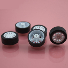 30pcs 2*18mm tamiya rubber plastic Wheel hot wheel toy car wheel Toy Accessories Technology Model Parts/rc/baby toys 182AH