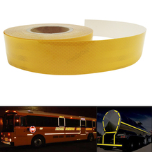 5CMx30M Reflective Tape Adhesive Stickers Decal Decoration Film Safety Motorcycle Stickers on school bus(China)